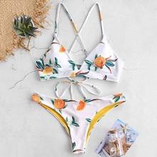 Sexy Bikinis Frauen 2020 Micro Bikini Set Push-Up Blume Drucken Zwei Stück Badeanzug Weibliche Verband Bademode Badeanzug Biquini # Y