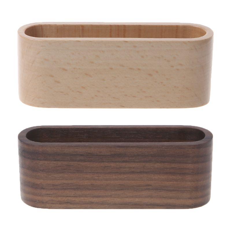 Деревянный стол визитная карточка стенд держатель памятки коробка для хранения Органайзер орех бук дерево