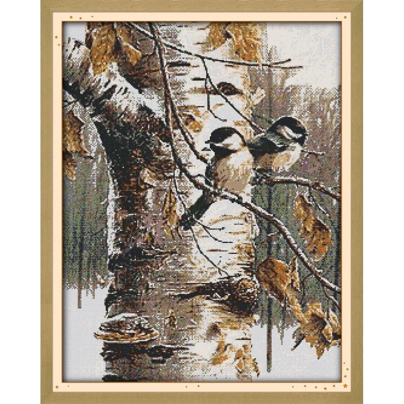 Набор для вышивки крестиком Everlasting love, Рождественский осенний комплект с птицами (1), экологичный хлопок, 14 карат, распродажа в новом магазине