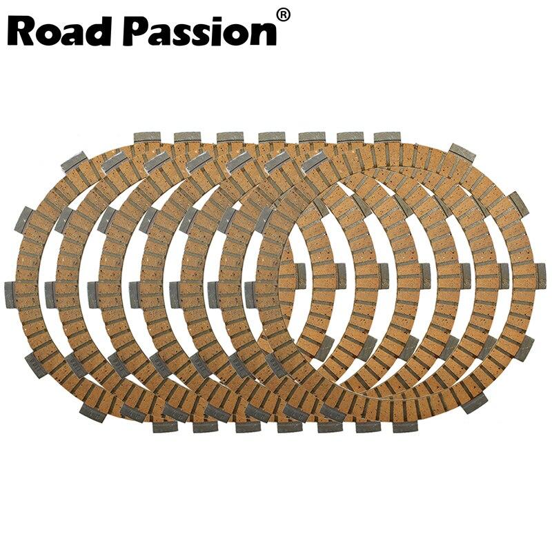 Kit de Road Passion de motocicleta Placas de fricción de embrague, 7 Uds., para Kawasaki KL600 KLR600 1984-86 ZL600 Eliminator 600 1986-1987 96-97