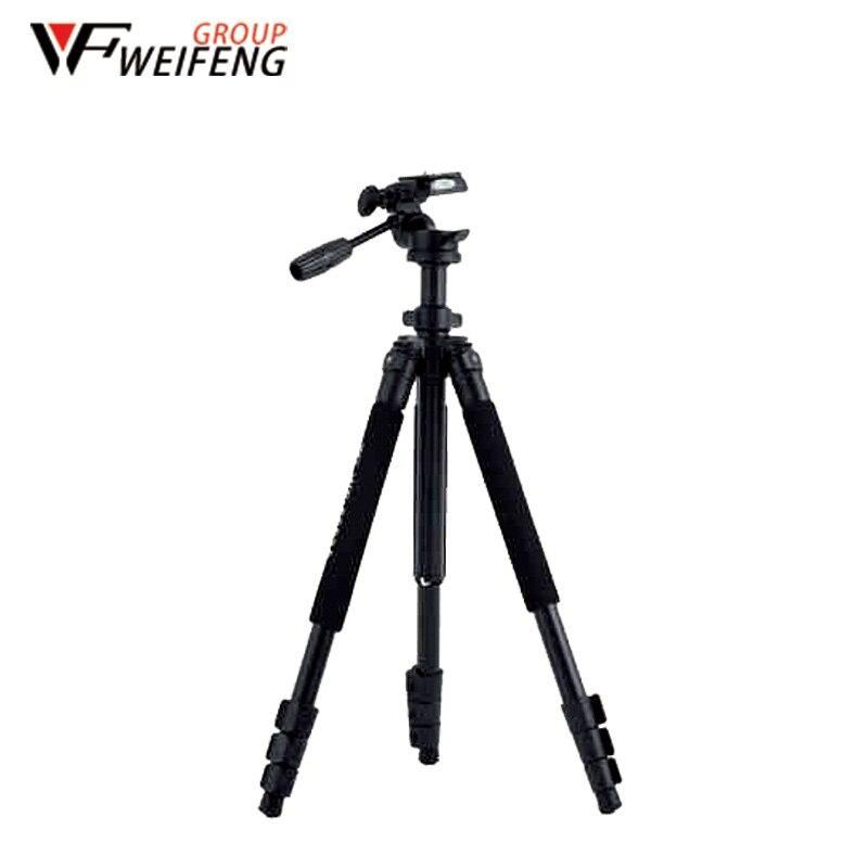 Weifeng Tripés WF6663A Três Em Liga de Magnésio Tripé de Viagem Portátil Profissional Tripé Monopé Para A Câmera