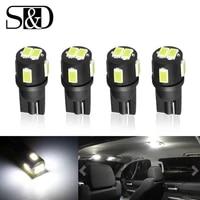 4pcs w5w t10 led bulbs 194 168 12v white car lights clearance lamp interior dome light door parking bulbs auto 6000k 5w5 led
