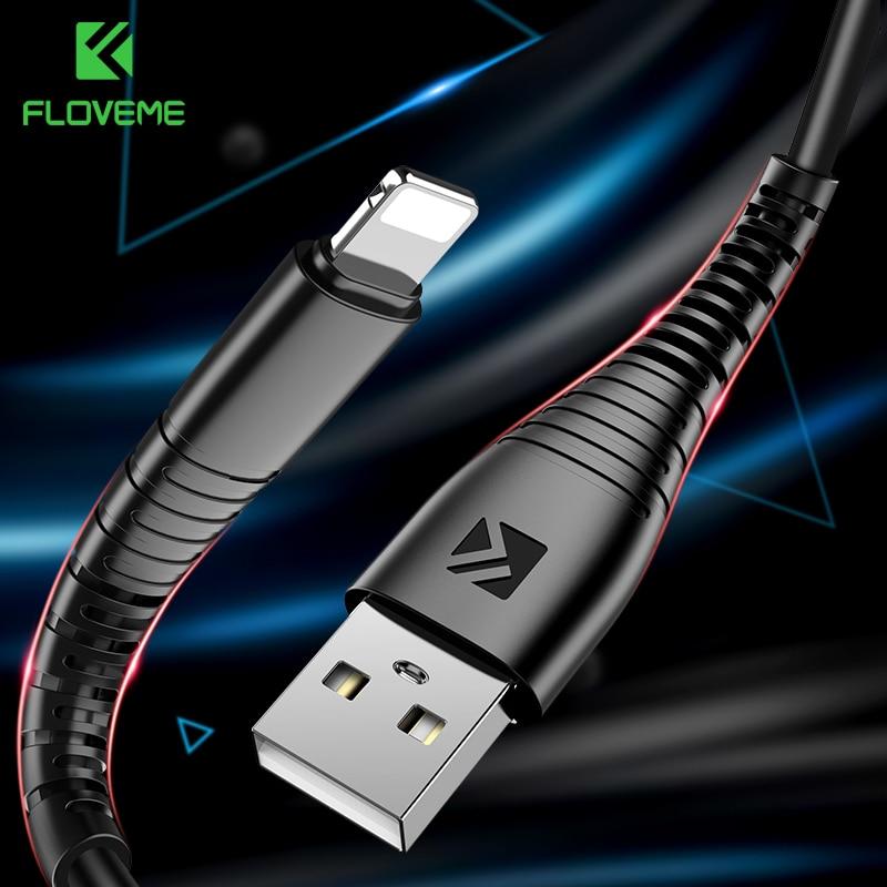 Floveme-Cable USB para iPhone X, XS Max, 8, 7 Plus, Cargador para...