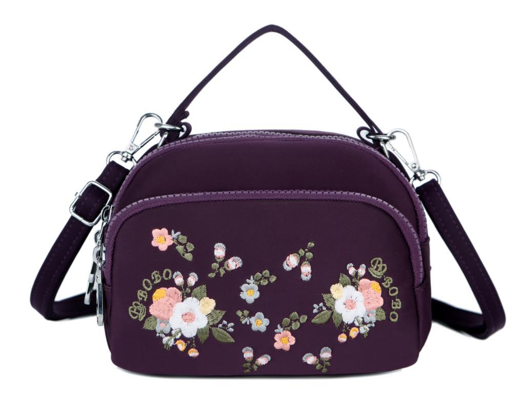 Bolso de mensajero bordado para mujer, Bolso pequeño de hombro para mujer, bolso cruzado Vintage para mujer, bolso de mano con asa superior, Bolsa femenina
