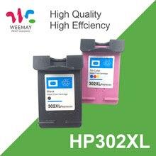 1set 302XL cartouche dencre pour HP 302 302 XL remplacement pour HP Deskjet 2130 2135 1110 3630 3632 Officejet 3830 3834 4650 4655
