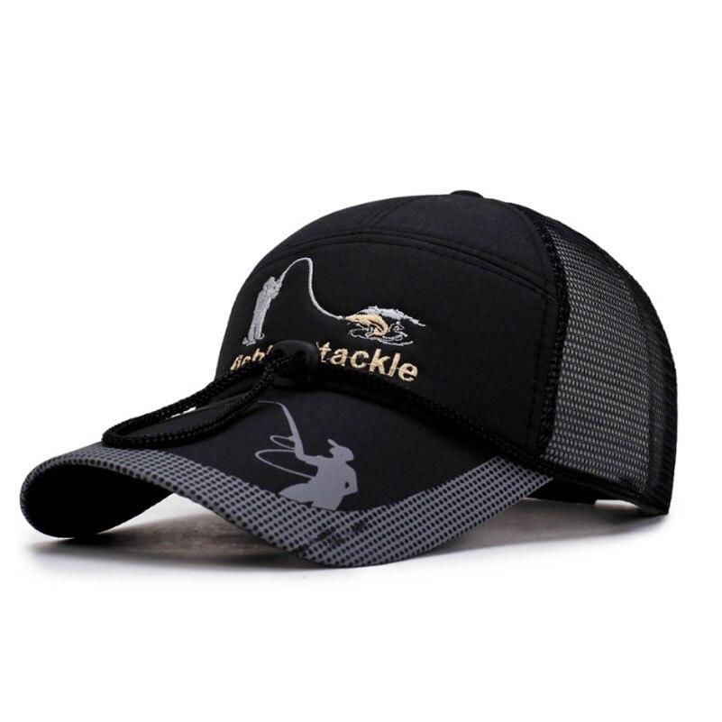 Sombrero de pesca gorro sombreros deportivos de Exteriores visera de senderismo protección UV para hombres y mujeres gorras de Golf transpirables ajustables