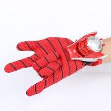 1 PC 24 cm enfants enfants Costume Spiderman Cosplay approprié, Spider-man gant Spider man lanceurs jouet émetteur avec boîte-cadeau