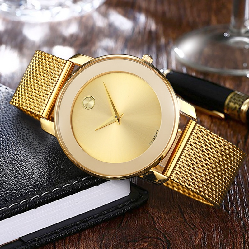 Clearance sale Ladies Quartz watch Fashion women Watches 2019 gold Wristwatch male waterproof creative watches clock enlarge
