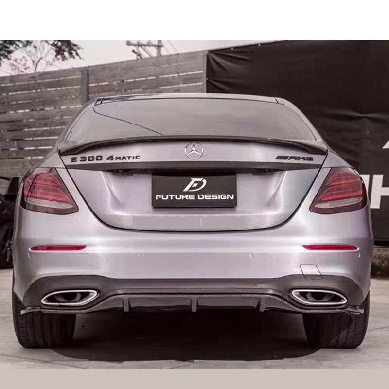 AMG Style spoiler For Mercedes W213 spoiler E Class 4-Door Sedan E200 E220 E250 E300 Carbon Fiber Rear Trunk Spoiler Wing 2016+