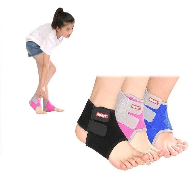 Respirant enfants coude soutien pied cheville protection basket-ball sport soutien pour enfants volley-ball sport cheville orthèse