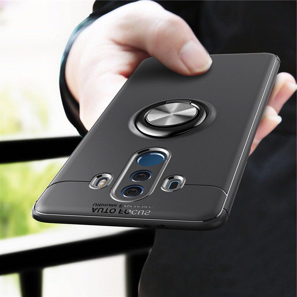 Силиконовый чехол с магнитным кольцом для huawei P8 P9 P10 P20 Plus Lite Honor 7X 8 9 V9 10 V10 mate 9 10 Pro Nova 2i 2s 2 Lite