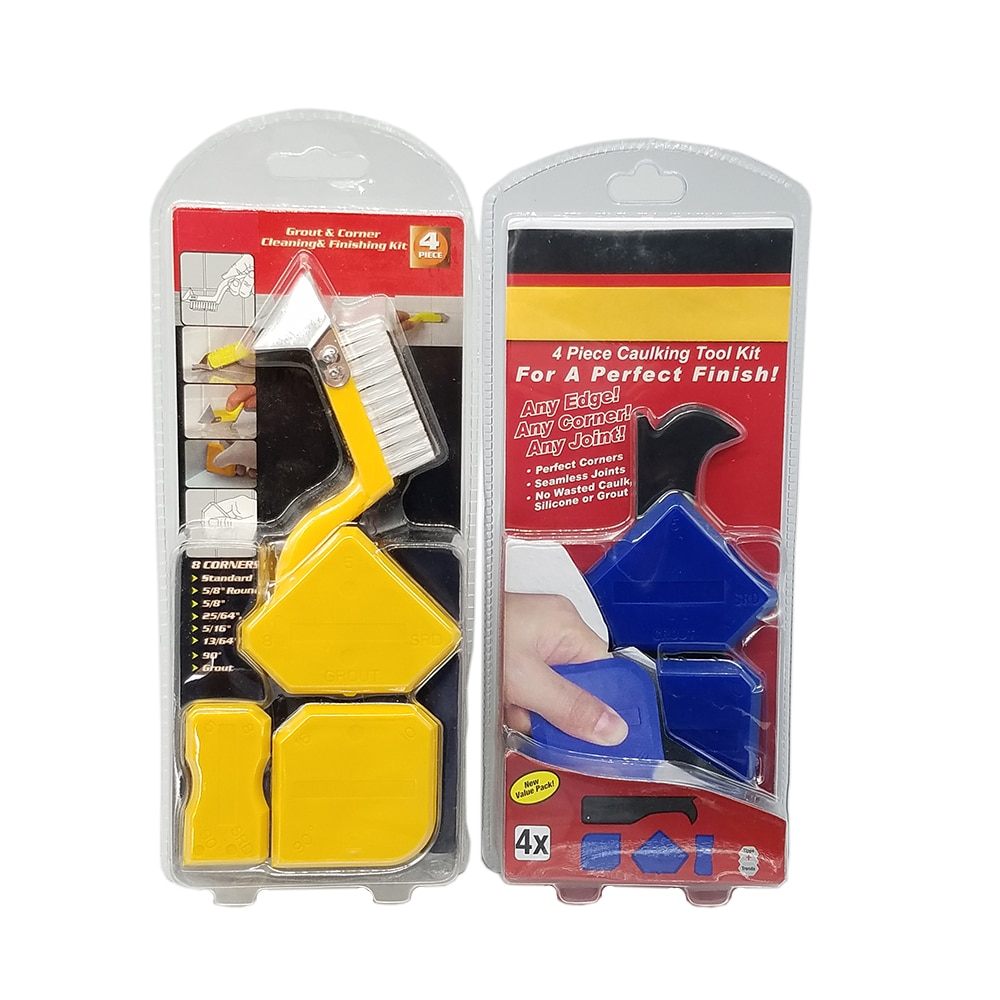 Фото - 4Pieces Caulking Tool Kit For Perfect Finish Perfect Cornerrs Seamless Joints NO Wasted Caulk ,Silicone or Grut Cleaning Kit wasted
