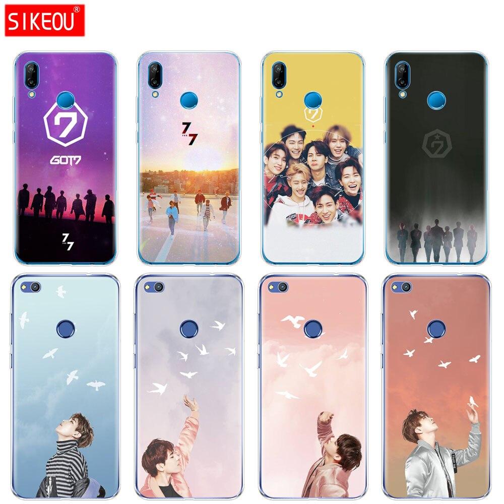 GOT7 Jackson JinYoung got 7 Silicone Cover Phone Case For Huawei P20 P7 P8 P9 P10 Lite Plus Pro 2017 P Smart 2018 coque bumper