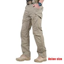 Pantalones de camuflaje tácticos de alta calidad para hombre, pantalones largos de trabajo a prueba de agua con bolsillos, pantalones sueltos, muchos bolsillos XXL