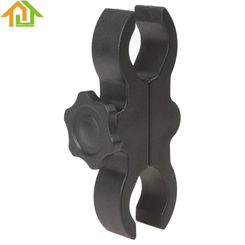 Soporte de linterna ajustable de plástico duradero soporte de antorcha de bicicleta soporte de destello de luz LED abrazadera de barril