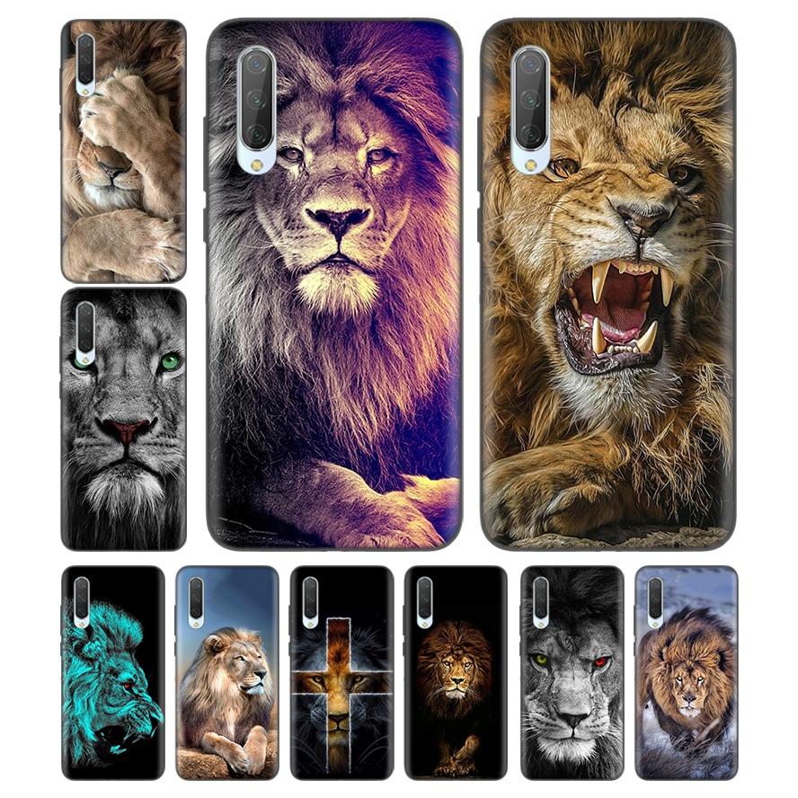 Silicone Case For Xiaomi Redmi Note 7 7A 7S 6 6A 5 K20 Mi A1 A2 8 9T CC9 CC9E Lite Pro F1 Cover Capa Fundas Lion Alpha Male Cub