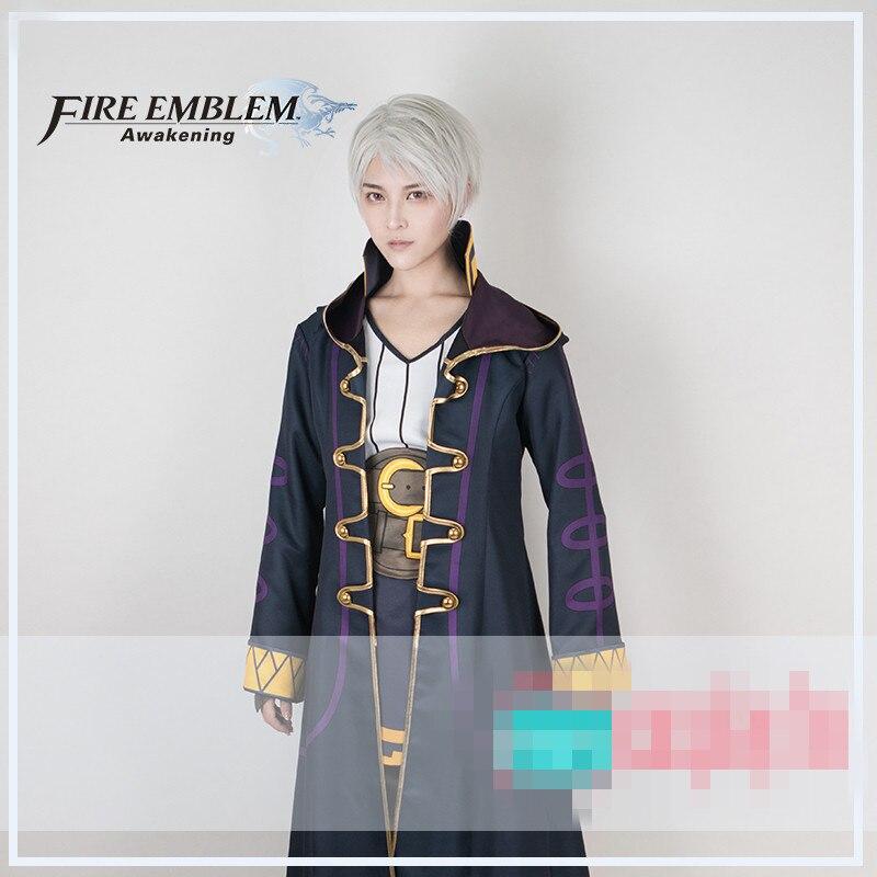 Disfraz de cosplay con emblema de fuego, Robin Awakening, conjunto completo de Robin, camisa, abrigo, pantalones, calcetines