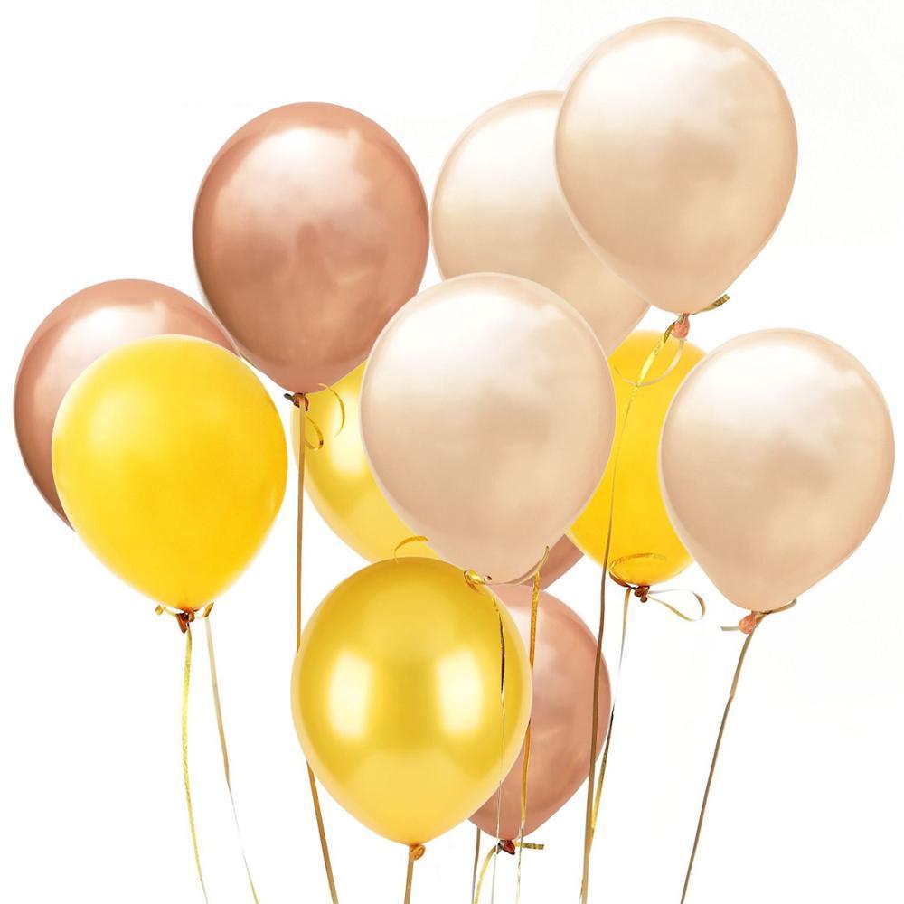 12 Uds 2,8g rosa azul Globos de Oro rosa látex helio suministros para fiesta de cumpleaños boda de ducha de bebé Decration juego de bolas