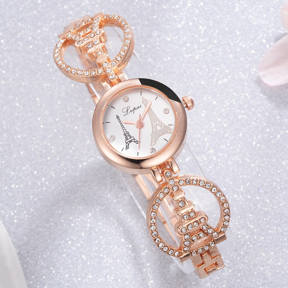 Lvpai Brand Women Bracelet Watch Tower Luxury Creative Quartz Ladies Wristwatches Women Dress Watches Clock