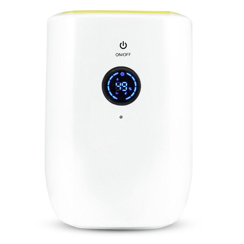 Desumidificador de ar elétrico de 800 ml para casa secador de ar absorvente de umidade portátil com desumidifie de ar do indicador automático e led