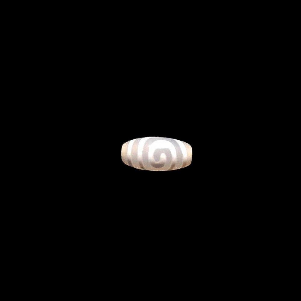 Raro padrão espiral 10*20mm 12*25mm branco amuleto natural ágata pedra tibetano dzi contas para pulseira diy jóias fazendo
