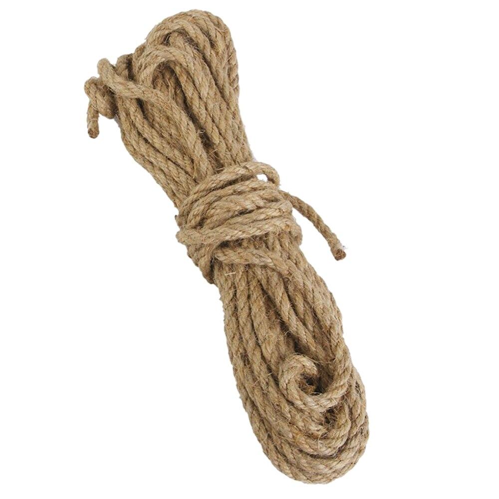 Cabo torcido do cânhamo de hessian da corda da juta de 6mm para o ofício 15 m