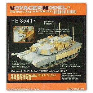 knl hobby modelo voyager modelo pe35417 abrams main war tank atualizado kit de gravacao de metal