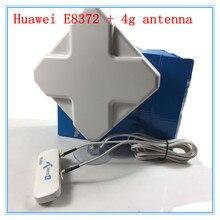 Unlocked Huawei E8372 + 4G Signal Amplifier antenna 4G usb wifi modem 4g usb mifi stick E8372h-608 E8372h-153