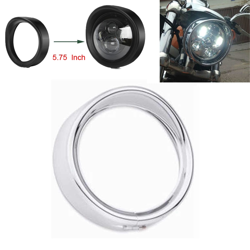 "Para harley 5.75 Polegada farol guarnição anel para harley 5-3/4 ""motocicleta projetor motor led farol"