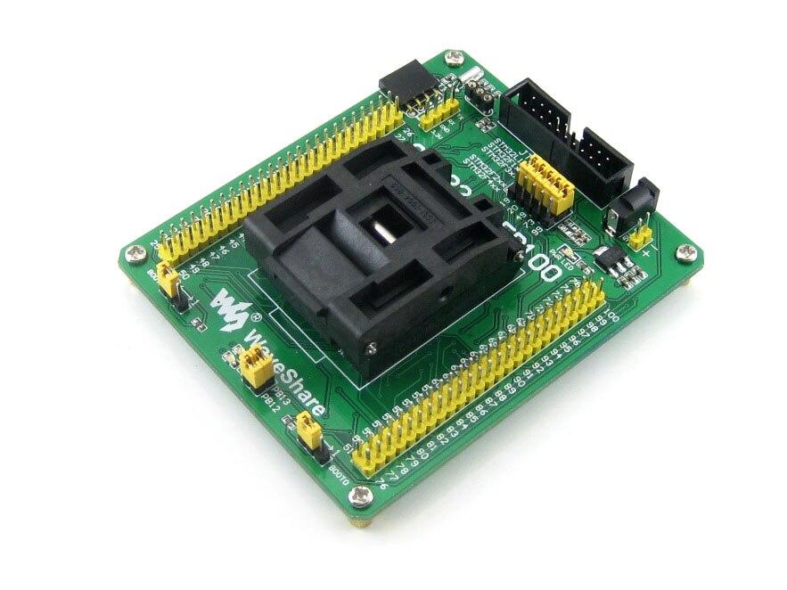 Adaptador de programador STM32-QFP100 Yamaichi IC prueba toma de encendido para microcontrolador STM32 en QFP100 (paso de 0,5mm)