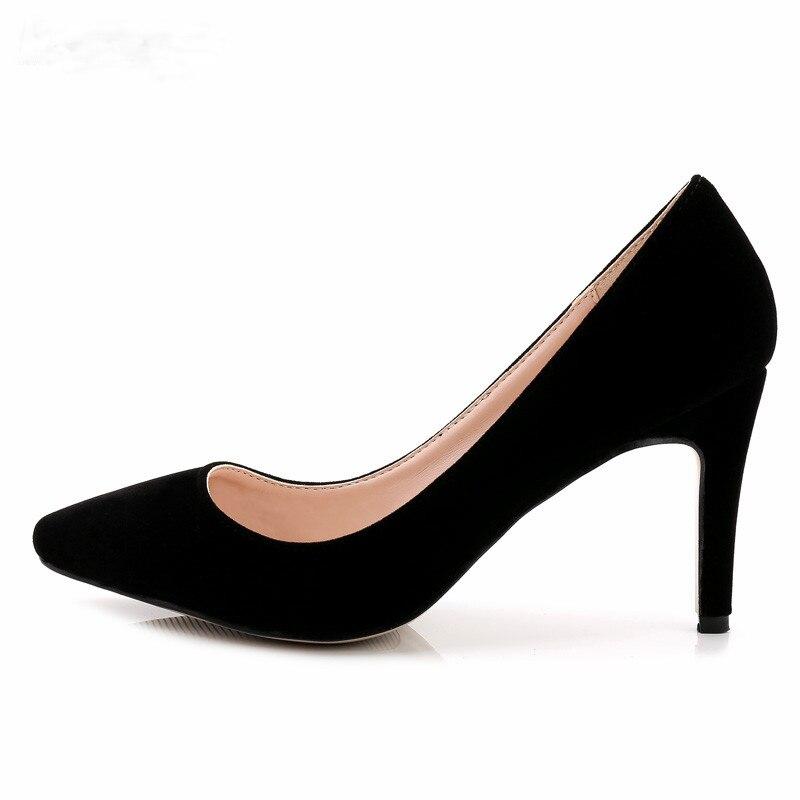¡Novedad! BBZAI fino zapatos de tacón de 8cm, zapatos clásicos sexis de boda para baile de graduación, zapatos de mujer con banda para oficina, zapatos de piel de talla grande 35-44