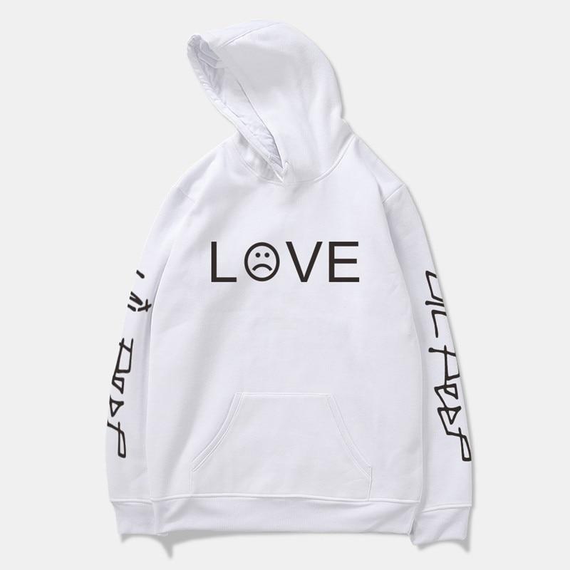 Lil Peep Hip Hop amor hombre Sudadera con capucha sudaderas sudadera rapera triste cara Jersey chaqueta de niño de manga larga ropa deportiva