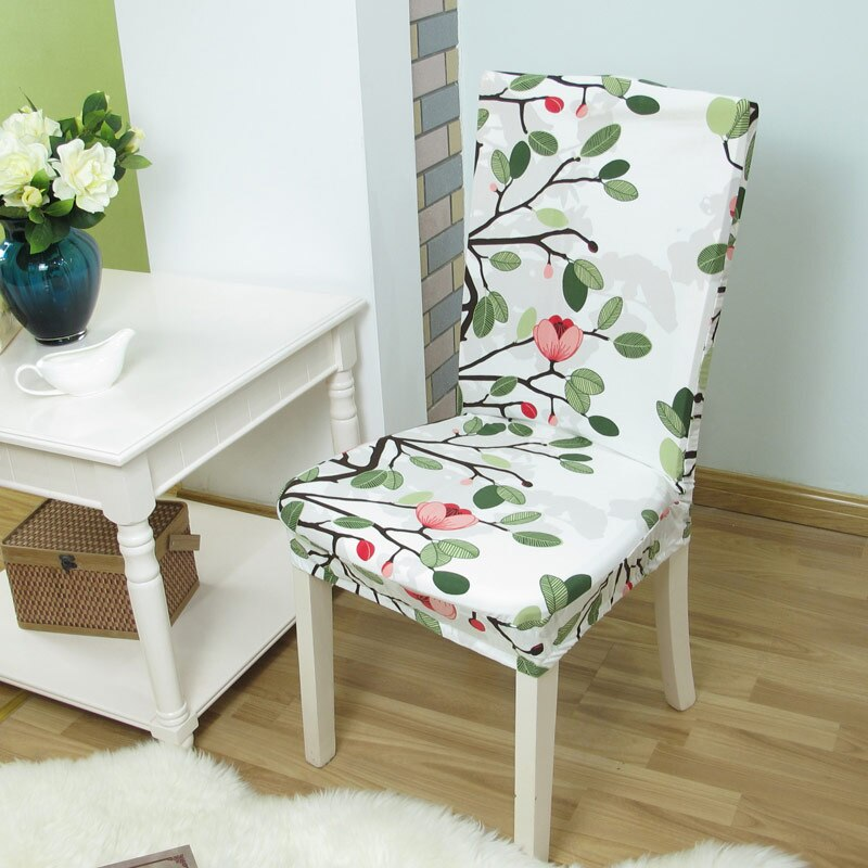 Fundas para sillas elásticas con estampado Floral, antisuciedad, elásticas, para comedor