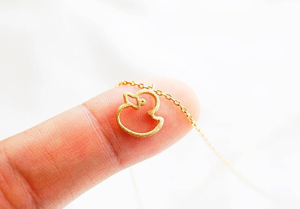 Daisies Cute Duck Duckling Pendant Animal Swan Necklace For Women & Children Gift