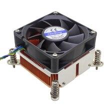 2u servidor enfriador de CPU de cobre de biselado disipador ventilador de refrigeración para Intel Xeon LGA 1150, 1151, 1155, 1156 ordenador Industrial de enfriamiento