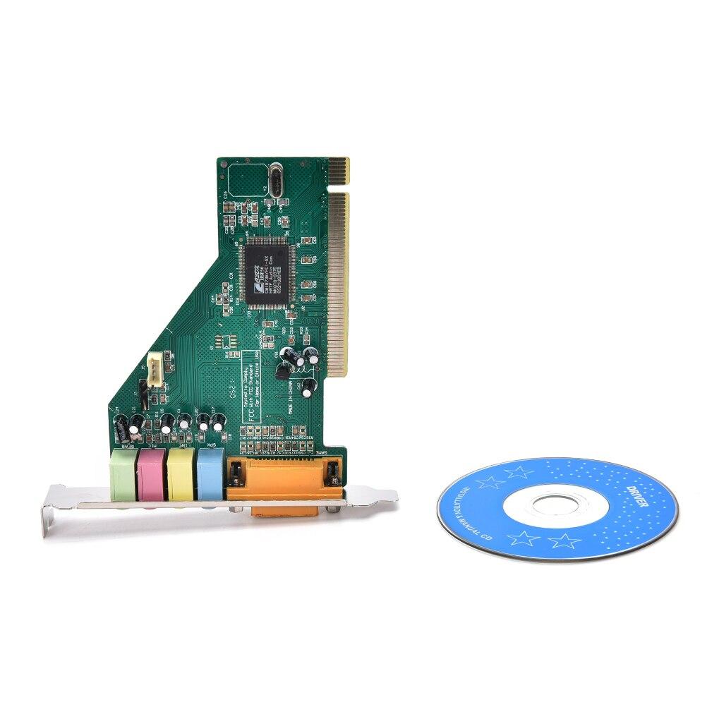 New 4 Channel 5.1 Surround 3D PC PCI Sound Audio Card w/Game MIDI Port Sound Card for PC Windows XP/7/8/10