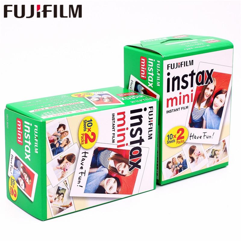 Белая пленка Fuji Instax Mini, 40 листов, мгновенная фотобумага Instax для Fujifilm Instax Mini 9 8 7s 7 25 50s 90 70 SP-1, камера