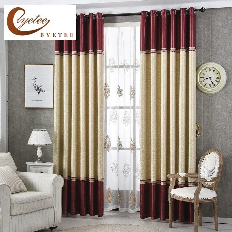 [Byetee moderna de lujo sala de ventana cortinas rayas cortinas puertas para cocina dormitorio cortinas tejidos