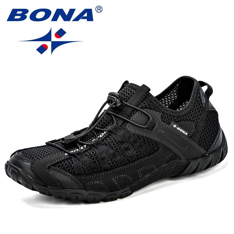 BONA/летние кроссовки; Дышащая мужская повседневная обувь; Модная мужская обувь; Tenis Masculino Adulto Sapato Masculino; Мужская обувь для отдыха