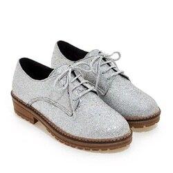 Nice New Mulheres Sapatos Moda Couro Pu Sapatos Oxford Para mulheres Sapatas Lisas Das Senhoras Mocassins Zapatos Mujer Tira Ouro Negro cores
