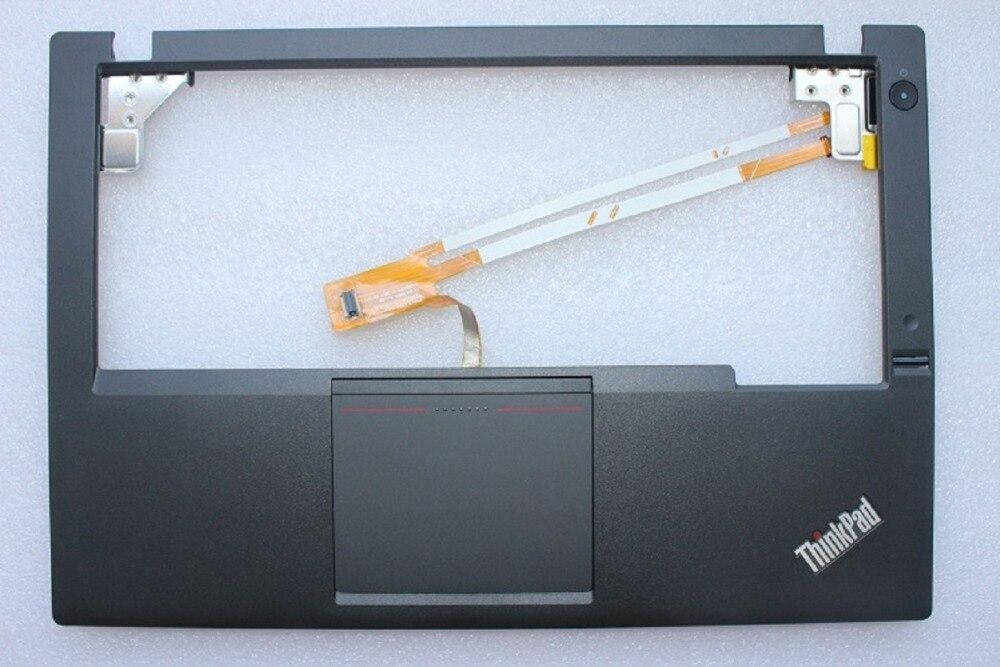 터치 패드 및 지문 판독기가있는 IBM Lenovo ThinkPad X240 용 새 원본 키보드 베젤 손목 받침대 04X5180 00HT392