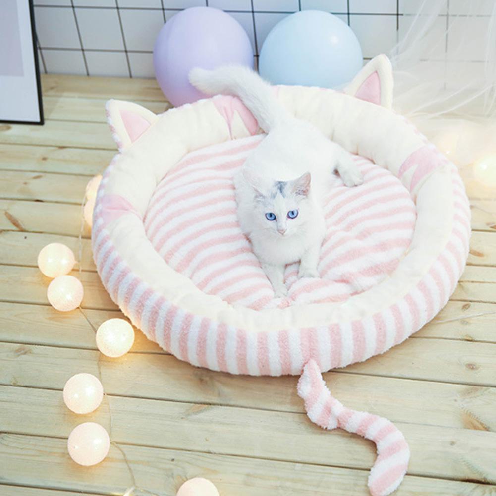 TPFOCUS Cama de Gato Super suave para pequeño grande Cama de Gato caliente Casa de hamburguesa cama desensamblable a prueba de viento mascota cachorro nido