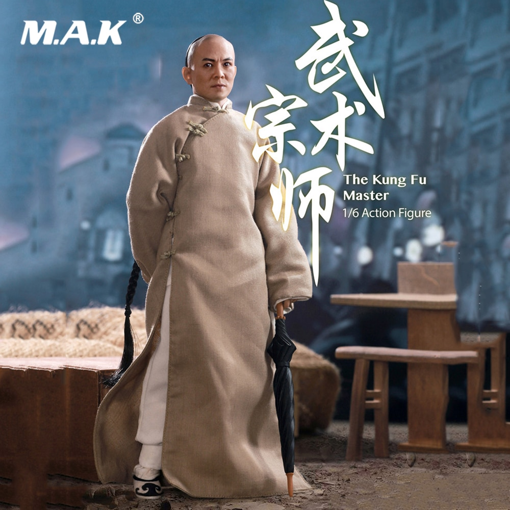 En Stock 1/6 escala coleccionable a-006 el maestro de Kung Fu Wang fei-hung maestro Jet Li completo establecer MODELO DE figura de acción para regalos de Fans