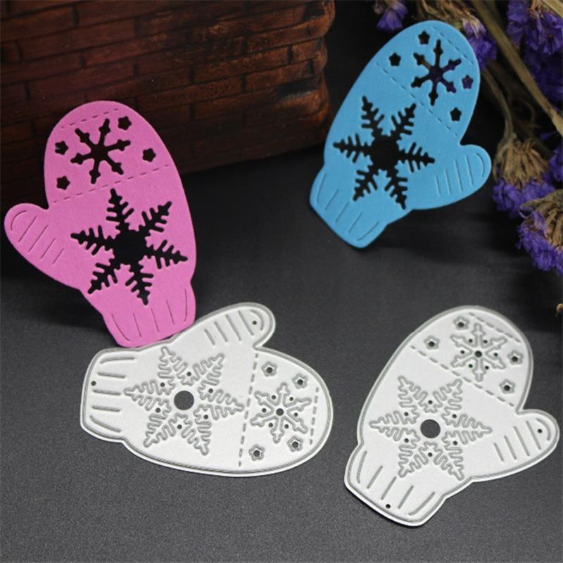 SCD228 Snowflake Gloves Metal Cutting Dies For Scrapbooking Stencils DIY Cards Album Decoration Embossing Folder Die Cutter Tool