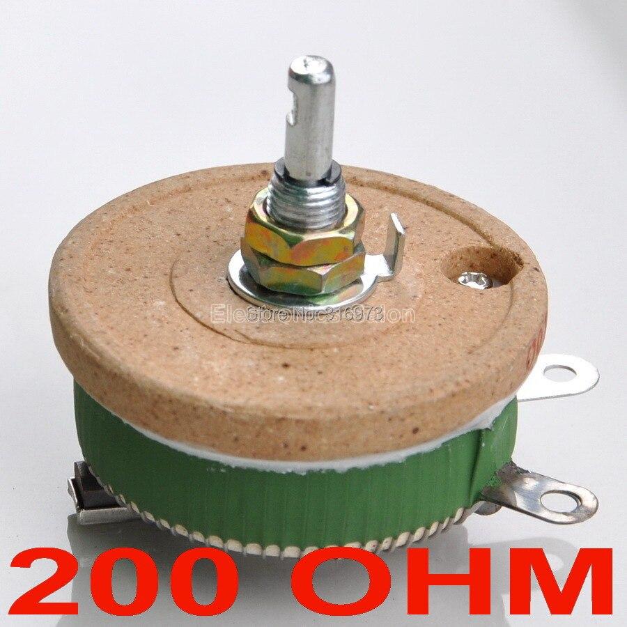 (10 قطعة/الوحدة) 50 واط 200 أوم عالية الطاقة سلك الجهد ، ريوستات ، متغير المقاوم ، 50 واط.
