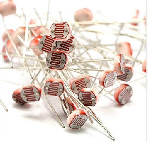 20 piezas 5mm GL5516 resistor fotosensible fotoresistor