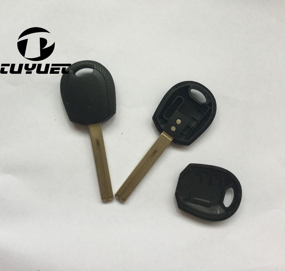 Carcasa de llave transpondedor en blanco Tuyuet para Kia Sportage, carcasa de llave de coche de repuesto, 30 unids/lote