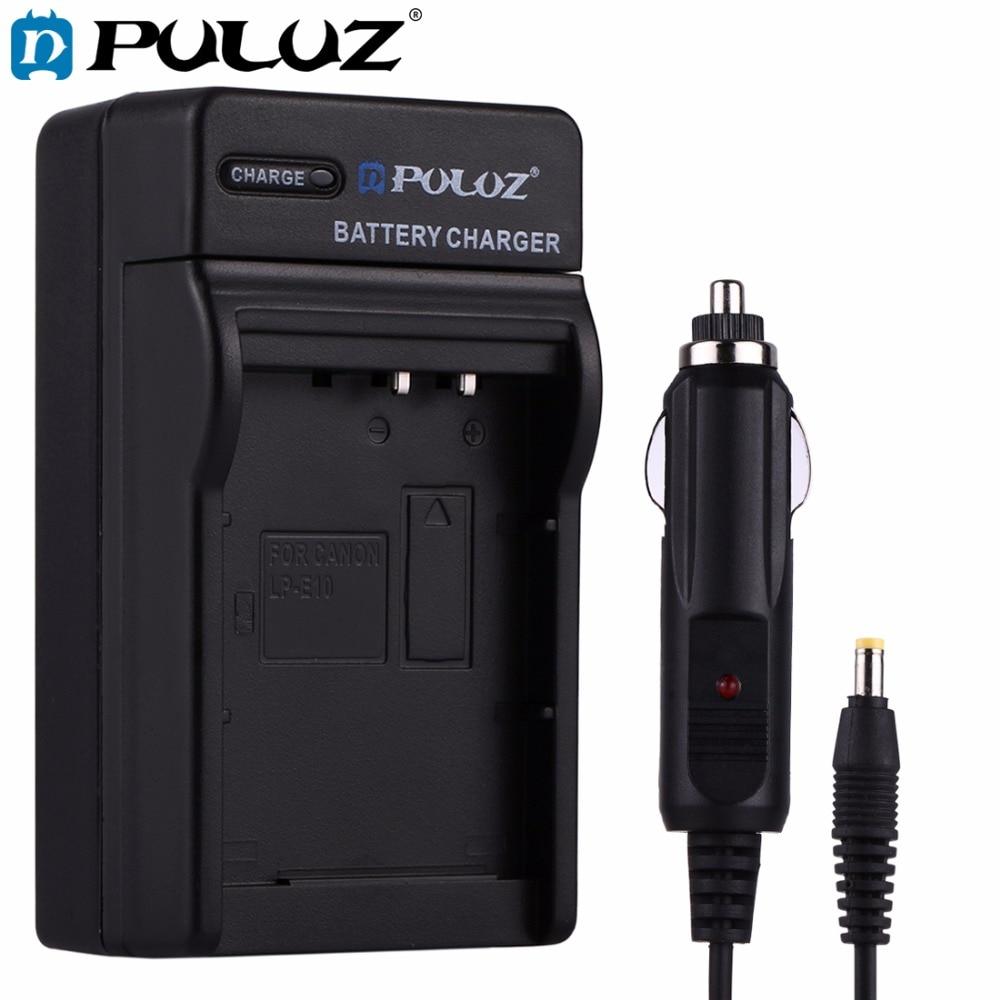 PULUZ 2 en 1 Batería para cámara Digital cargador de coche para Canon LP-E12 batería para Canon EOS M/EOS M2/EOS 100D cámara Digital