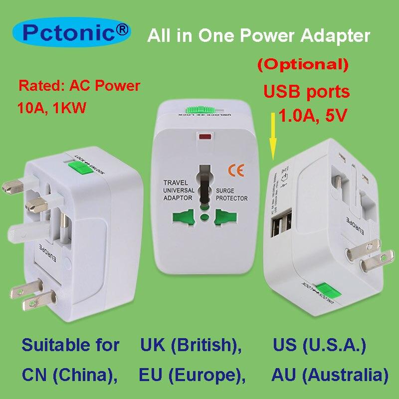 Adaptador de enchufe Universal de CA, adaptador de pared de alimentación USB, ee.uu., China, Europa, Australia, Reino Unido, Reino Unido, todo en 1, salida de pared