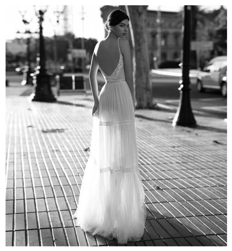 Купить с кэшбэком LORIE Boho 2019 Sexy Wedding Dress A-Line Appliques Off The Shoulder Bride Dress Custom Made Wedding Gown